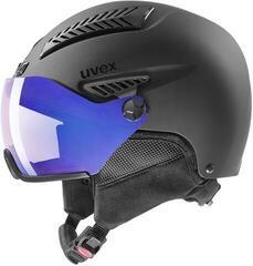UVEX Hlmt 600 Visor Vario Ski Helmet Black Mat