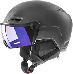 UVEX Hlmt 700 Visor Vario Ski Helmet Black Mat