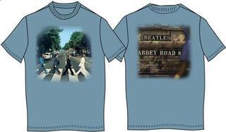 The Beatles Unisex Premium Tee Abbey Road (Back Print) Denim