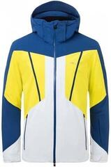 Kjus Boval Mens Ski Jacket Southern Blue/Citric Yellow