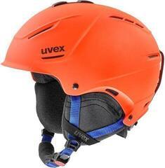 UVEX P1US 2.0 Ski Helmet Orange/Blue Mat
