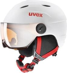 UVEX Junior Vision Pro Ski Helmet White/Red Matt
