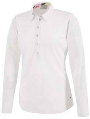 Galvin Green Melinda Ventil8 Long Sleeve Womens Polo Shirt White XS