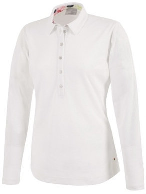 Galvin Green Melinda Ventil8 Long Sleeve Womens Polo Shirt White S