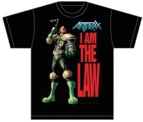 Anthrax Unisex Tee I am the Law M