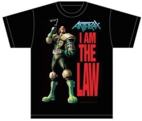 Anthrax Unisex Tee I am the Law XXL