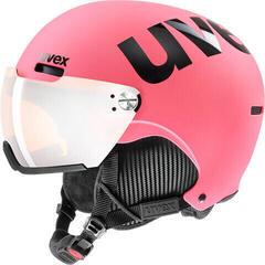 UVEX Hlmt 500 Visor Ski Helmet Pink Mat