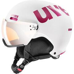 UVEX Hlmt 500 Visor Ski Helmet White/Pink Mat