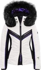 Sportalm Doping Womens Ski Jacket Hood with Fur Optical White