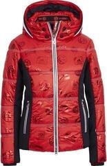 Sportalm Pfiati Womens Ski Jacket Hood with Fur Racing Red