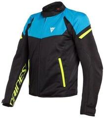 Dainese Bora Air Tex Jacket Black/Fire Blue/Fluo Yellow