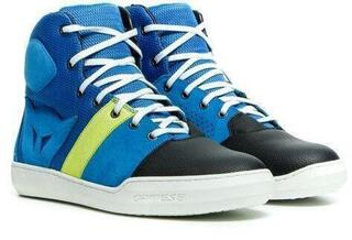 Dainese York Air Shoes Blue/Fluo Yellow