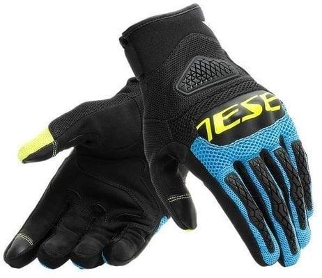 Dainese Bora Gloves Black/Fire Blue/Fluo Yellow M