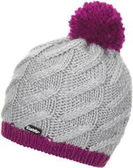 Eisbär Asteria Pompon Beanie Purple Flower/Grey