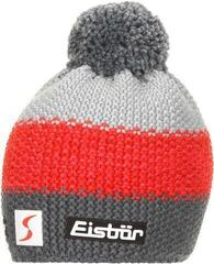 Eisbär Star Pompon Skipool Beanie Anthracite/Red/Grey