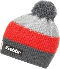 Eisbär Star Pompon Skipool kids Beanie Anthracite/Red/Grey