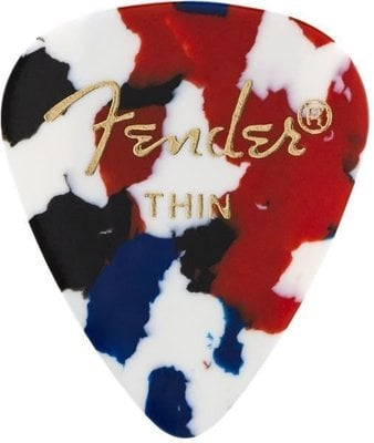 Fender 351 Shape Classic Celluloid Picks Confetti Thin