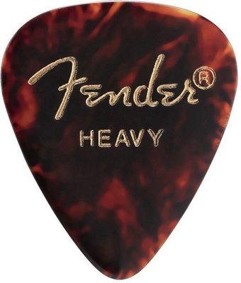 Fender 351 Shape Classic Celluloid Picks Shell Heavy