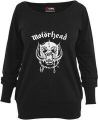Motörhead Ladies Motörhead Everything Louder Wideneck Crewneck Black
