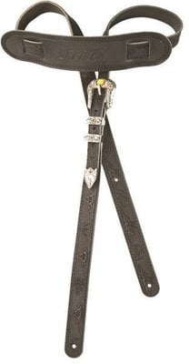 Gretsch Vintage Tooled Leather Guitar Strap Black
