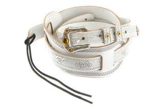 Gretsch Vintage Tooled Leather Guitar Strap White