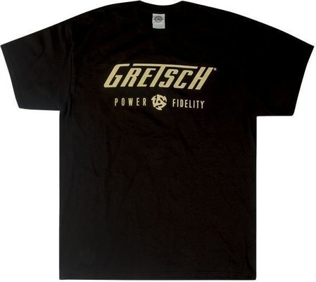 Gretsch Power & Fidelity Logo T-Shirt Black M