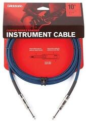 D'Addario Braided Instrument Cable Blue/Braided-Straight - Straight