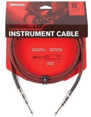 D'Addario Braided Instrument Cable Rdeča/Pleten-Ravni - Ravni