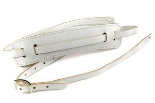 Gretsch Vintage Leather Guitar Strap Vintage White