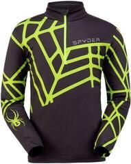 Spyder Vital Mens Ski Sweater Black Mojito