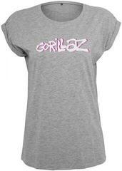 Gorillaz Ladies Gorillaz Logo Tee Heather Grey