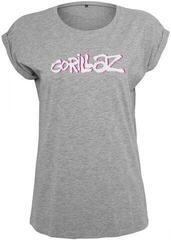 Gorillaz Ladies Gorillaz Logo Tee Heather Grey