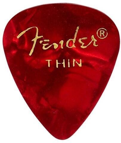Fender 351 Shape Premium Pick Thin Red Moto