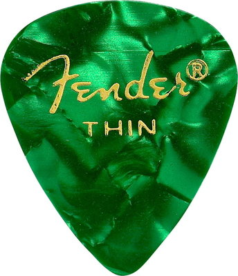 Fender 351 Shape Premium Pick Thin Green Moto