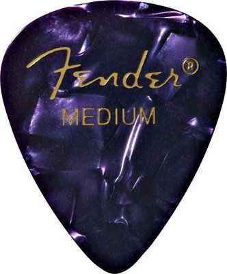 Fender 351 Shape Premium Pick Medium Purple Moto