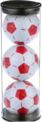 Nitro Soccer Ball White/Red 3 Ball Tube