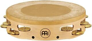 Meinl AE-MTAH2B Headed Artisan Tambourine Solid Brass Jingles 2 Rows