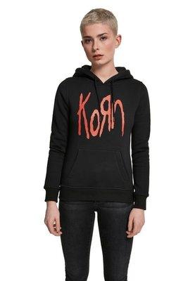 Korn Ladies Logo Hoody Black XS