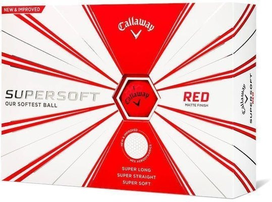 Callaway Supersoft Golf Balls 19 Matte Red 12 Pack