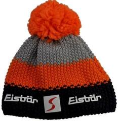 Eisbär Star Pompon Skipool Beanie Dark Cobalt/Orange/Grey