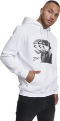 2Pac Faces Hoody White XXL