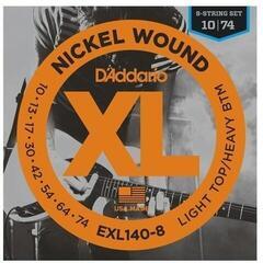 D'Addario EXL140-8 Nickel Wound 8-String Light Top/Heavy Bottom 10-74
