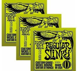 Ernie Ball 3221 Nickel Slinky Electric Guitar Strings 3-Pack