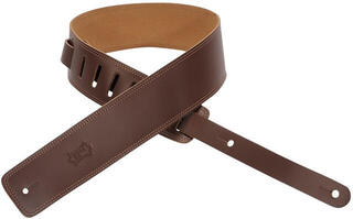 Levys DM1 Leather Guitar Strap, Brown