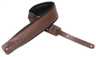 Levys DM1PD Padded Leather Guitar Strap, Brown