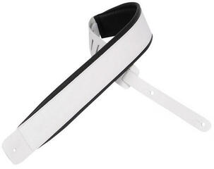 Levys DM1PD Padded Leather Guitar Strap, White