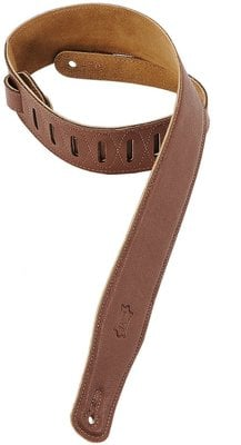 Levys M26GF Garment Leather Guitar Strap, Brown