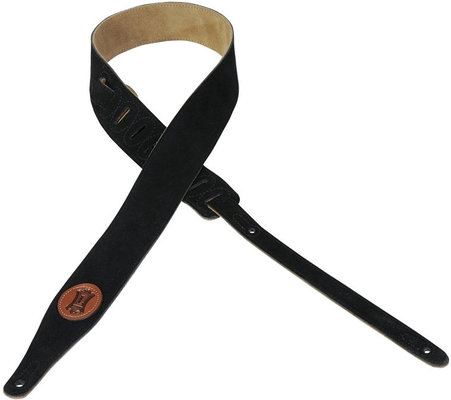 Levys MS217 Suede Leather Guitar Strap, Black