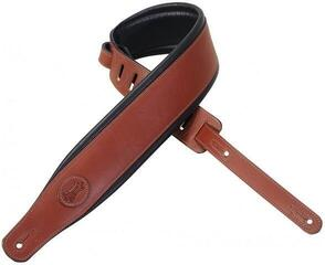 Levys MSS1 Padded Leather Guitar Strap, Walnut