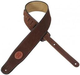 Levys MSS3 Suede Leather Guitar Strap, Brown